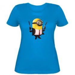 Женская футболка Миньон Хитман - FatLine