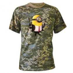 Камуфляжная футболка Миньон Хитман - FatLine