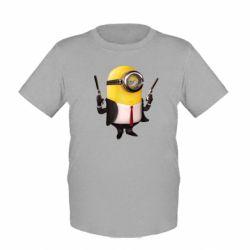 Детская футболка Миньон Хитман - FatLine