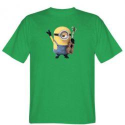 Мужская футболка Миньон с гитарой - FatLine