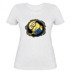 Женская футболка Миньон - FatLine