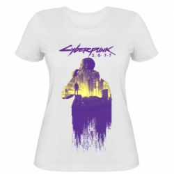 Женская футболка Мир Cyberpunk 2077