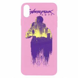 Чехол для iPhone Xs Max Мир Cyberpunk 2077