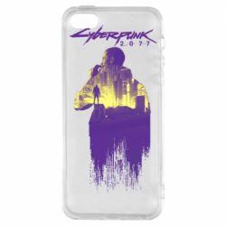 Чехол для iPhone5/5S/SE Мир Cyberpunk 2077