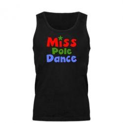 Мужская майка Miss Pole Dance - FatLine