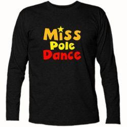 Футболка с длинным рукавом Miss Pole Dance - FatLine