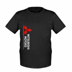 Детская футболка Mitsubishi Motors лого - FatLine