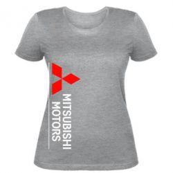 Женская футболка Mitsubishi Motors лого