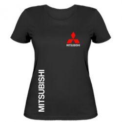 Женская футболка Mitsubishi Motors logo