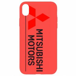 Чехол для iPhone XR Mitsubishi Motors лого