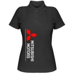 Женская футболка поло Mitsubishi Motors лого - FatLine