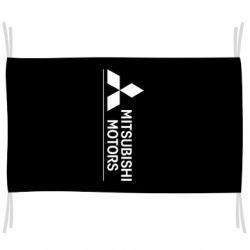 Флаг Mitsubishi Motors лого