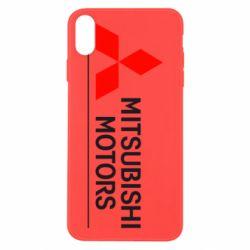 Чехол для iPhone X/Xs Mitsubishi Motors лого
