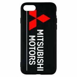 Чехол для iPhone 7 Mitsubishi Motors лого