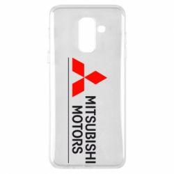 Чехол для Samsung A6+ 2018 Mitsubishi Motors лого