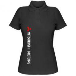 Женская футболка поло Mitsubishi vert - FatLine