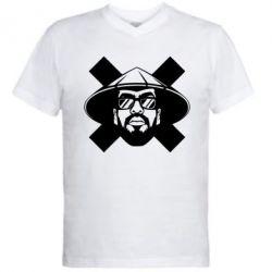 Мужская футболка  с V-образным вырезом MiyaGi [Λ S Λ T Λ]