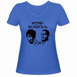 Женская футболка с V-образным вырезом Miyagi & Эндшпиль