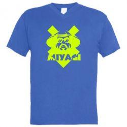 Мужская футболка  с V-образным вырезом Miyagi