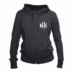 Жіноча толстовка на блискавці Mk 11 logo