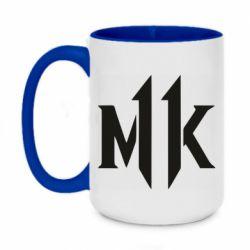 Кружка двоколірна 420ml Mk 11 logo