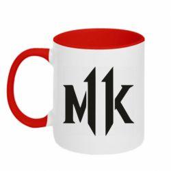 Кружка двоколірна 320ml Mk 11 logo