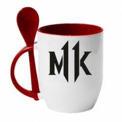 Кружка з керамічною ложкою Mk 11 logo
