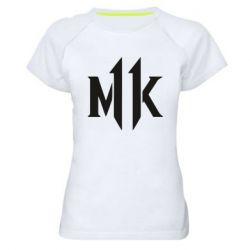 Жіноча спортивна футболка Mk 11 logo