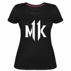 Жіноча стрейчева футболка Mk 11 logo