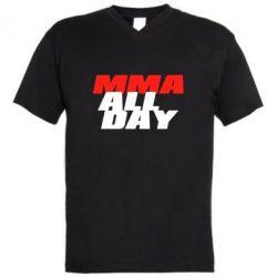 Мужская футболка  с V-образным вырезом MMA All day