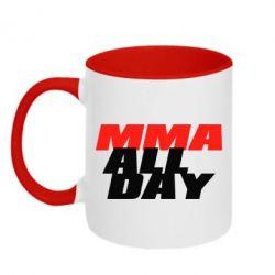 Кружка двухцветная 320ml MMA All day