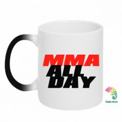 Кружка-хамелеон MMA All day