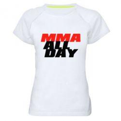 Женская спортивная футболка MMA All day