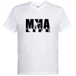 Мужская футболка  с V-образным вырезом MMA Life - FatLine