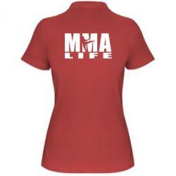 Женская футболка поло MMA Life - FatLine