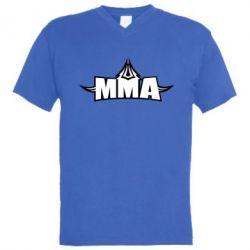 Мужская футболка  с V-образным вырезом MMA Pattern - FatLine