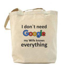 Сумка Мне не нужен гугл