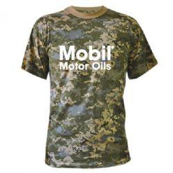 Камуфляжная футболка Mobil Motor Oils