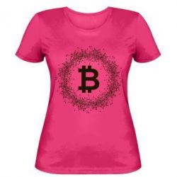 Купить Женская футболка Modern bitcoin, FatLine