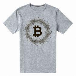 Купить Мужская стрейчевая футболка Modern bitcoin, FatLine