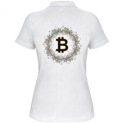 Купить Женская футболка поло Modern bitcoin, FatLine