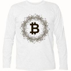 Купить Футболка с длинным рукавом Modern bitcoin, FatLine
