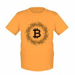 Купить Детская футболка Modern bitcoin, FatLine