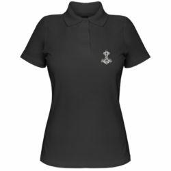Жіноча футболка поло Молот тора візерунок