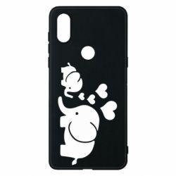 Чехол для Xiaomi Mi Mix 3 Mom and baby elephants