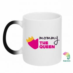 Кружка-хамелеон Mommy the queen