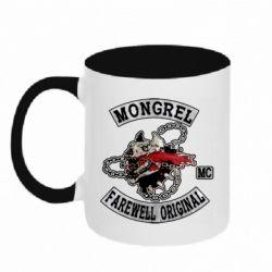 Кружка двоколірна 320ml Mongrel MC