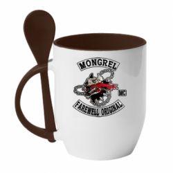 Кружка з керамічною ложкою Mongrel MC