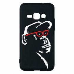 Чохол для Samsung J1 2016 Monkey in red glasses