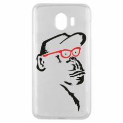 Чохол для Samsung J4 Monkey in red glasses